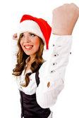 Fröhliche weihnachten-frau — Stockfoto