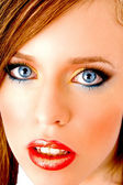 Close up of model looking at camera — Stock Photo