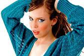 Portrait de beau modèle féminin — Photo