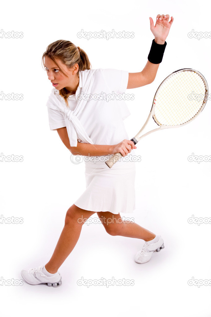 playing profession tennis