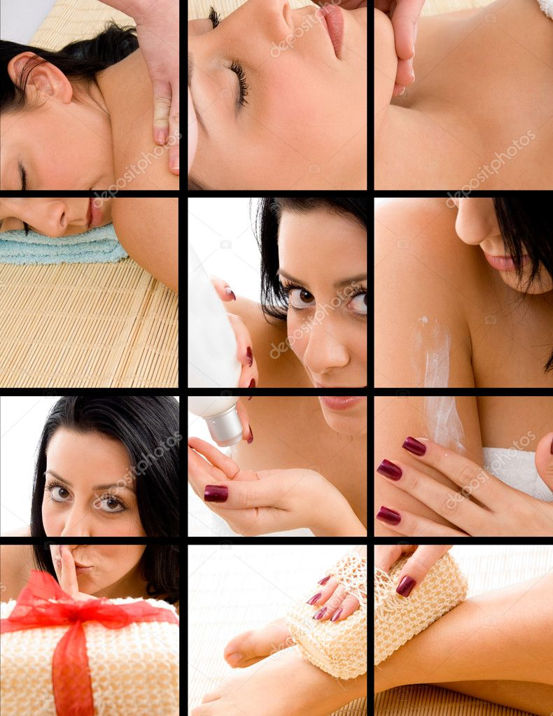 Spa - healthy massage concept for ads  Stock Photo #1351405