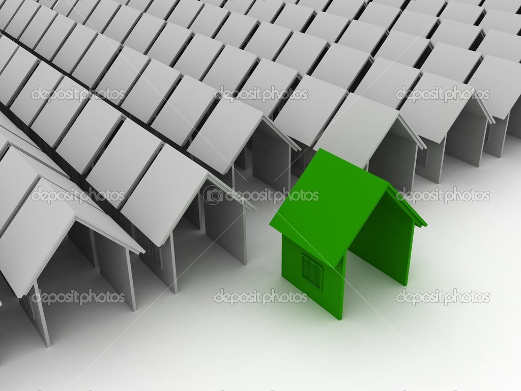3d houses in bulk — Stock Photo #1358286