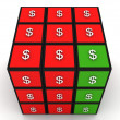 Dollar puzzle cube — Stock Photo