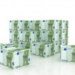 Royalty-Free Stock Photo: Euro bill boxes in pile