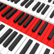 Three dimensional piano keys — Stock Photo