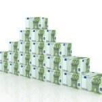 Heap of euro boxes — Stock Photo #1361377