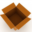 Top view of 3d carton box — Stock fotografie