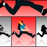Jumping man — Stock Photo