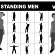 Stock Photo: Standing men