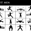Stock Photo: Fit men