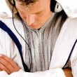 Young man enjoying music — Foto de Stock
