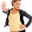 Sexy woman stop gesture — Stock Photo #1364268