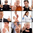 Approved by all photo montage — Stock Photo