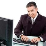 Corporate man working — Stock Photo #1365004