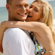 Caucasian couple embracing — Stock Photo