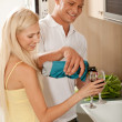 Couple sharing champagne — Stock Photo #1365947