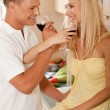 Couple sharing champagne — Stock Photo #1366001