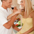 Foto Stock: Couple sharing champagne