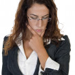 Young businesswoman thinking — Stock Photo #1366497