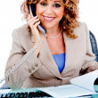 Stock Photo: Corporate woman busy on call