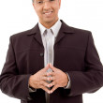 Happy businessman facing camera — Stock Photo #1366805