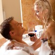 Time for erotic bath — Stock Photo #1368375