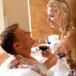 Time for erotic bath — Stock Photo