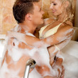 Royalty-Free Stock Photo: Young couple bathing