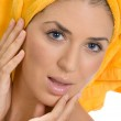 Gorgeous beauty in towel — Stock Photo #1368509