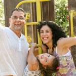 Семья весело — Стоковое фото