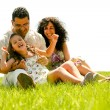 Stock Photo: Happy family portrait having fun