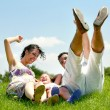 Jolly family having great time — Stock Photo #1369500