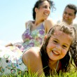 Jolly family having fun — Stock Photo #1369523