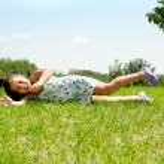 Young baby girl having fun — Stock Photo