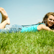 Young girl relaxing — Stock Photo