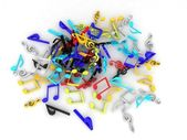 Colored musical notes — Stock Photo