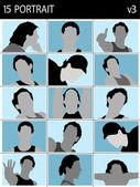 Ansikten av män — Stockfoto