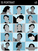 Tváře mužů — Stock fotografie