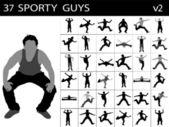 Jonge sportieve mannen — Stockfoto