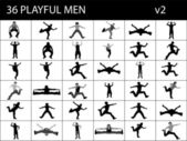 Mannetjes zijn benen uitrekken — Stockfoto
