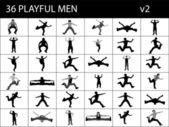 Männer, die seine beine — Stockfoto