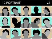 Retrato de machos — Foto de Stock