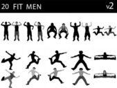 Muskulösa män — Stockfoto