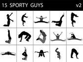 Machos jóvenes deportivos — Foto de Stock