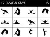 Män gör övning — Stockfoto