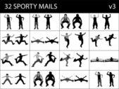 Sportliche männer — Stockfoto