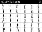 Stylish men posing — Stock Photo