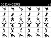 Professional dancers — Stock Photo