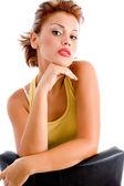 Fashionable woman looking at camera — Stock Photo