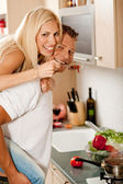 Modern romantic couple — Stock Photo